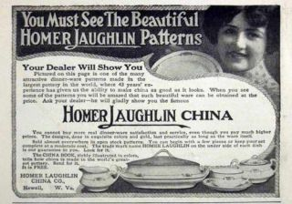 1914 Porcelain Homer Laughlin China Newell W Virgnia AD