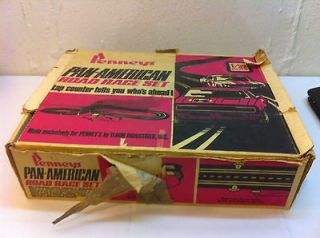 VINTAGE 1968 ELDON PAN AMERICAN 1/32 SLOT CAR ROAD RACE SET MADE FOR