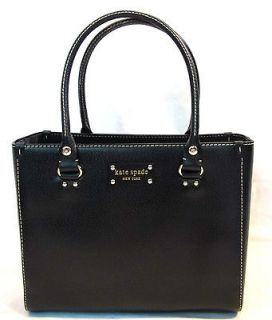 NEW NWT Kate Spade Wellesley Leather Quinn Bag Purse Tote BLACK