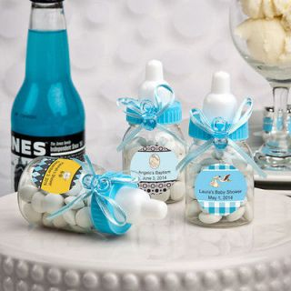 100 Personalized Blue Baby Boy Bottle Favors Baby Shower Event Favors