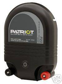 Patriot P20 Electric Fence Charger Energizer 50 mile/2J