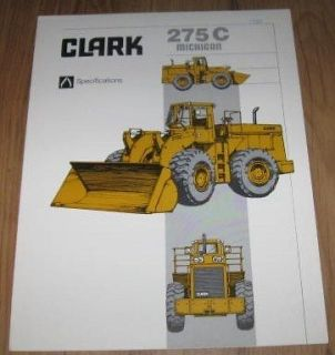 Clark Michigan 275C Loader Specifications Brochure