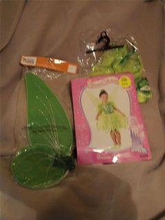 Girls Fairy Princess Tinkerbell Tink Costume with Wings X Small 4 6