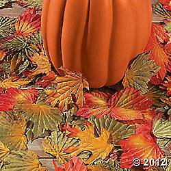 Lot of 250 Polyester Fall Autumn Leaves Wedding Table Scatter
