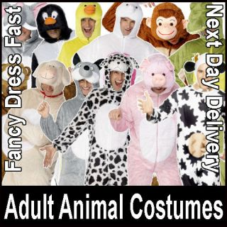 New Animal Fancy Dress Costume Zoo Farm Book Adult Unisex Mens Ladies