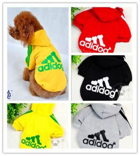 New Pet Puppy Dog Clothes Clothing Hooded T Shirt Size XS S M L ​XL