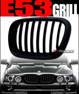 BLACK KIDNEY STYLE FRONT HOOD BUMPER GRILL GRILLE ABS 2000 2003 BMW