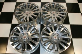 CADILLAC CTS FACTORY OEM 18 POLISHED WHEELS / RIMS 4681 (Set of 4)
