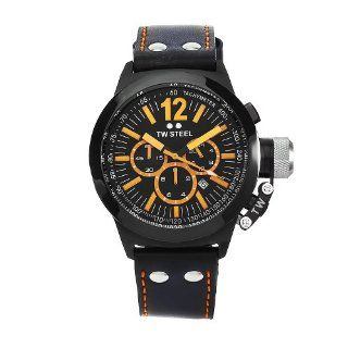 TW Steel Mens CE1029 CEO Canteen Black Leather Chronograph Dial Watch