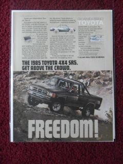 Print Ad Toyota 4x4 SR5 Pickup Truck ~ FREEDOM Get Above the Crowd