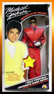 1984 Michael Jackson THRILLER Fully Poseable Doll with Glitter Glove