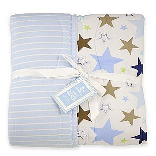 Small Wonders Baby Boy Reversible Star Print Comforter   Baby   Baby