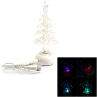 Colorful USB Christmas Tree Shape Night Light   Tmart