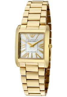 Emporio Armani AR2052 Watches,Womens Super Slim White Mother Of