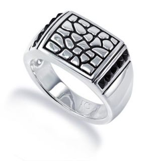 Goodman Mens Black Spinel Viper Ring in Sterling Silver   View All