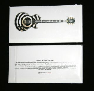 Gibson Les Paul guitar, (Zakk Wylde   Bullseye) Greeting Card, DL size