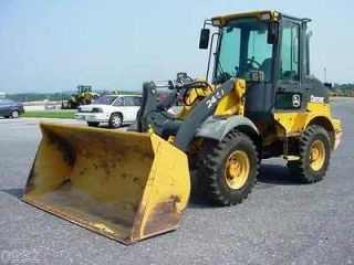 2009 John Deere 244J Wheel loader with cab and A/C, Very Good Solid