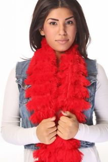 Red Soft Faux Fur Scarf @ Amiclubwear scarf Online Store,scarves