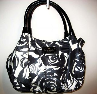 NWT KATE SPADE ROSELAND SMALL KAREN TOTE HANDBAG BLACK/CREAM $278 W