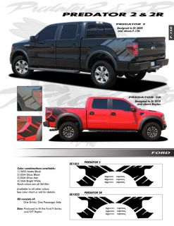 FORD F150 Raptor Graphics Kit Decals Trim EE 1821 Emblems 2009 2012