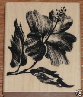 PENNY BLACK HIBISCUS RUBBER STAMP