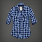 ABERCROMBIE FITCH WOMENS DAWN PLAID BUTTON DOWN SHIRT TOP PINK NAVY SZ