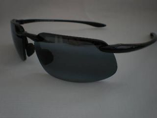 Maui Jim Kanaha 409 02 Sunglasses in Gloss Black / Grey