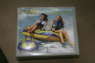 DAYTONA TOWABLE WATER SHAPED SKI TUBE FUEL LAKE TOY TWO PERSON NEW