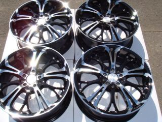5x110 Black Wheels Lincoln Continental Jaguar S Type XJ8 Saab 9 3 Rims