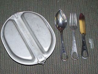 War Era USMC Army Military Infantry Mess Kit Fork Knife Spoon P38