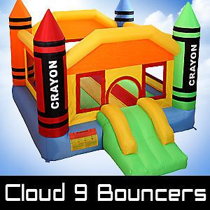 Newly listed Mini Crayon Bounce House Inflatable Bouncer Moonwalk