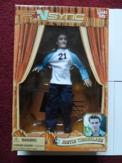 BOY BAND NSync Justin Timberlake 10 Inch Marionette Doll Action FIgure