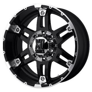 17x8 KMC XD Series Spy XD797 5,6,8 Lug Black Wheels Rims FREE Caps