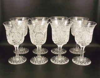 Antique ABP American Brilliant Cut Glass Water Goblets (&)