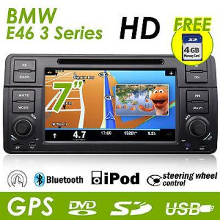 BMW E46 3 Series HD LCD iPod BT Car Stereo GPS DVD Player Touch Screen