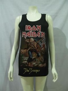 iron maiden the trooper rock punk t shirt tank top sz m