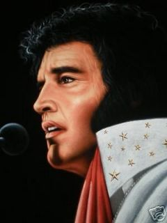 ELVIS PRESLEY The king velvet oil painting, 18 by 24 inches, 100%