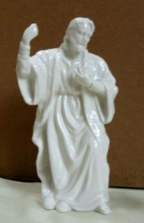 franklin mint glazed porcelain nativity joseph figurine