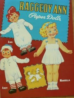 raggedy ann and andy paper doll book shackman time left
