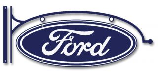 FORD LOGO TIN METAL SIGN HOT ROD RAT GARAGE OLD SCHOOL RETRO CUSTOM