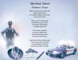 police officer personalized poem prayer  7 85