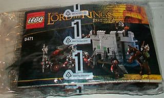 LEGO The Lord of the Rings Set 9471 Uruk Hai Army Castle Wall NO