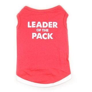 Pet Dog Clothes Red T Shirt Vest FUNNY PHRASES Type size XS M L j