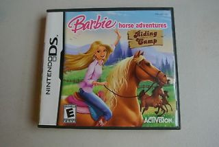 Barbie Horse Adventures Riding Camp Game Complete Nintendo DS DSi