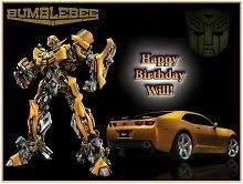 Transformers #1 Edible CAKE Icing Image topper frosting birthday party