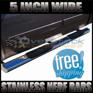 GMC Silverado/Sier​ra Extended Cab Stainless 5 Nerf Bars Side Step