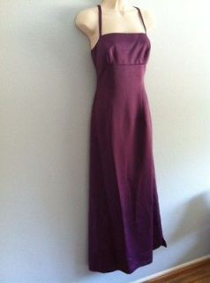 Nicole Miller Purple Satin Dress 8 Formal Wedding Polyester Prom