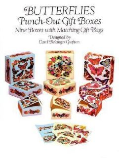 Butterflies Punch Out Gift Boxes Nine Boxes with Matching Gift Tags by