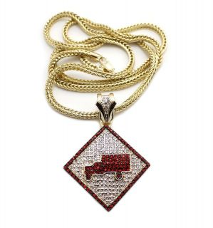 Hip Hop Iced Out lil waynes trukfit Inspired Pendant w/ 4mm 36