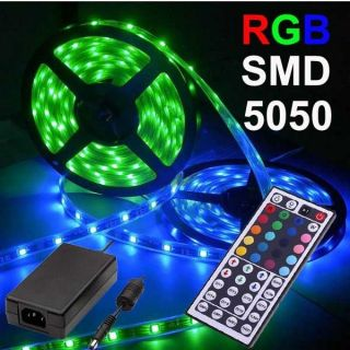 18M RGB SMD 5050 LED Strip light Christams indoor and outdoor + power